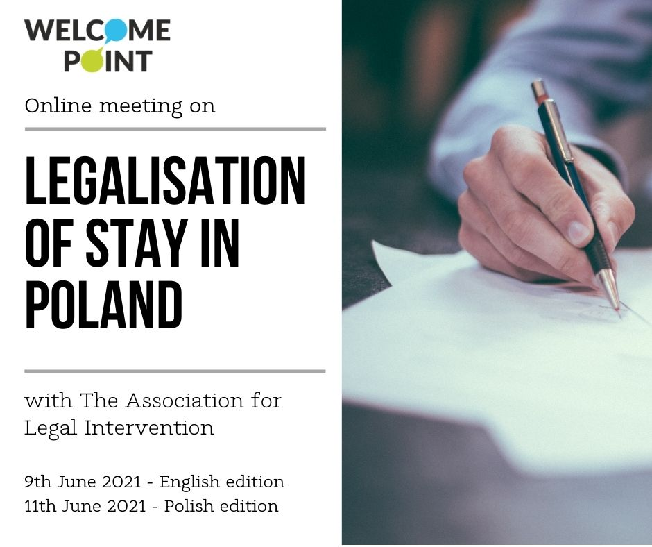 welcome point legalisations of stay poster